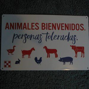 NEW! Purina Coop Animals Welcome Spanish Sign